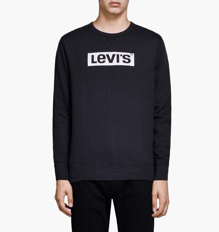 LEVIS SWEAT GRAPHIC CREW LOGO 2 BLACK (TXH) 37d6d7125c4