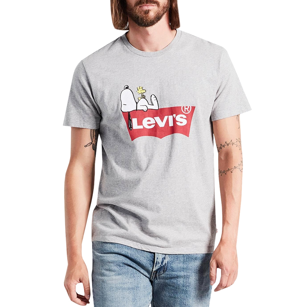 5b4cf8c1e LEVIS T´SHIRT GRAPHIC SET-IN NECK 2 SNOOPY GREY (TXH)