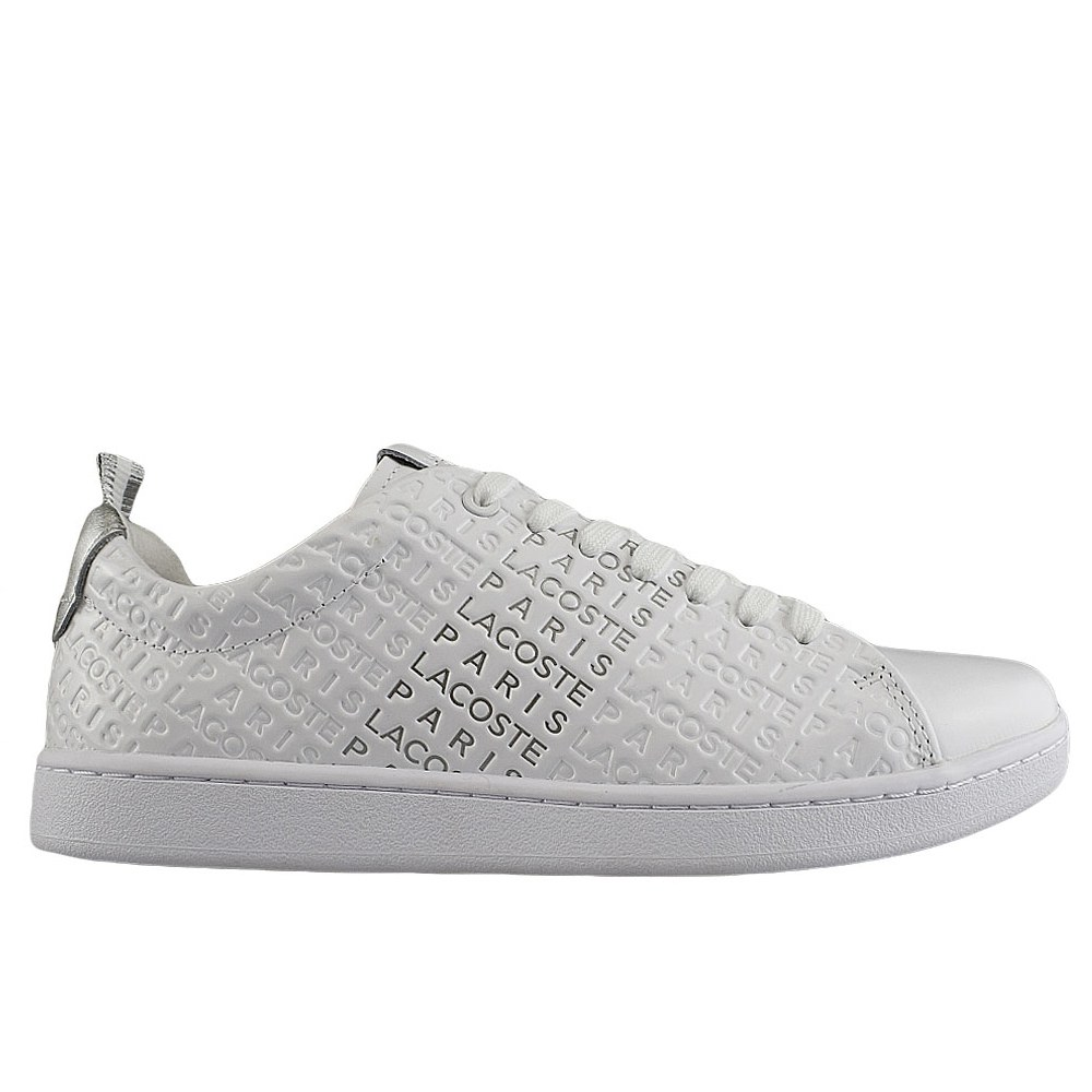 b3a6fd1c67ceaa LACOSTE CARNABY EVO 119 11 WHITE SILVER (CLM)